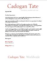 Testimonial Cadogen Tate